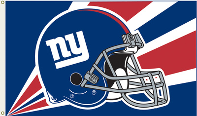 NFL New York Giants Flag with Grommets Bandera