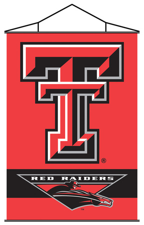 NCAA Texas Tech Red Raiders Indoor Banner Scroll Pergamino