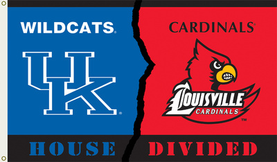 NCAA Kentucky - Louisville Rivarly House Divided Flag with Grommets Flag