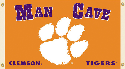 NCAA Clemson Tigers Man Cave Flag with Grommets Flag