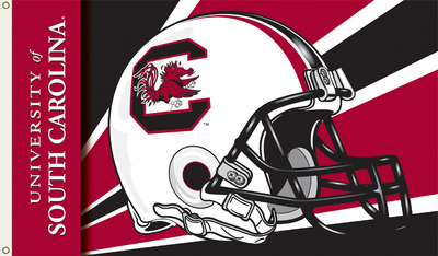 NCAA South Carolina Gamecocks Helmet Flag with Grommets Flag