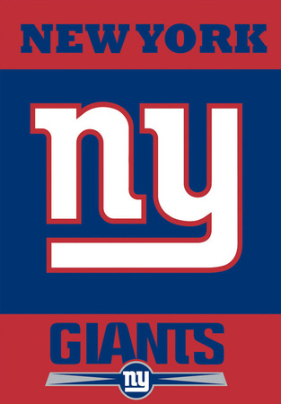 NFL New York Giants 2-Sided House Banner Bandera