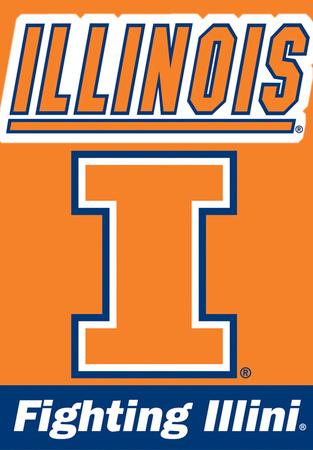NCAA Illinois Fighting Illini 2-Sided House Banner Flag