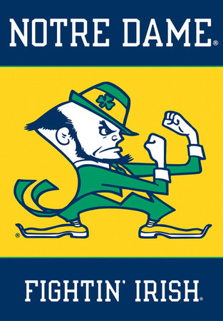 NCAA Notre Dame 2-Sided House Banner Bandera