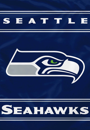 NFL Seattle Seahawks 2-Sided House Banner Bandera