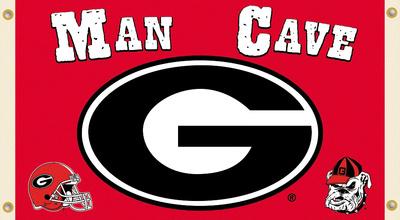 NCAA Georgia Bulldogs Man Cave Flag with Grommets Flag