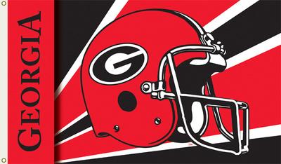 NCAA Georgia Bulldogs Helmet Flag with Grommets Flag