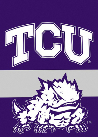 NCAA Texas Christian Horned Frogs 2-Sided Garden Flag Flag