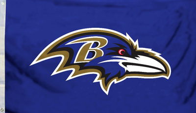 NFL Baltimore Ravens Flag with Grommets Bandera
