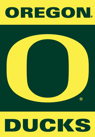 NCAA Oregon Ducks 2-Sided House Banner Bandera
