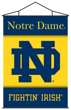 NCAA Notre Dame Indoor Banner Scroll Pergamino