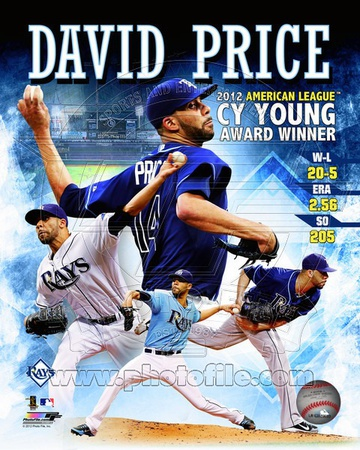 David Price 2012 American League Cy Young Award Winner Composite Photo