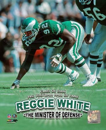 Reggie White - Minister of Defense / '06 H.O.F. Photo