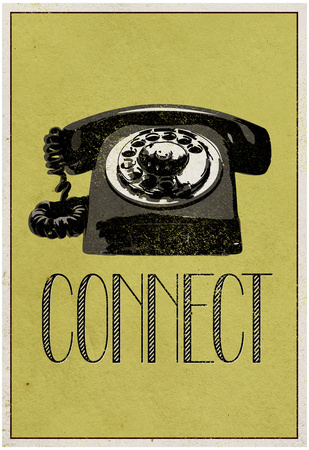 Connect Retro Telephone Player Art Poster Print Photo