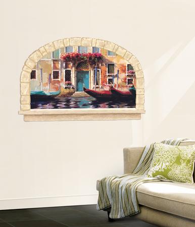 Gondolas Of Venice Accent Wall Decal Wallpaper Mural