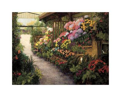 Spring Flower Market Giclee Print by Montserrat Masdeu