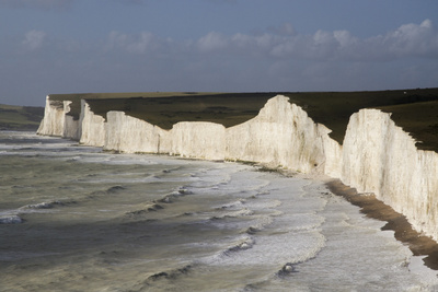 Seven Sisters from Birling Gap, South Downs National Park, East Sussex, England, United Kingdom Photographic Print by Rolf Richardson