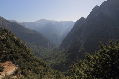 Samaria Gorge from Lookout, Crete, Greek Islands, Greece, Europe Photographic Print by Rolf Richardson