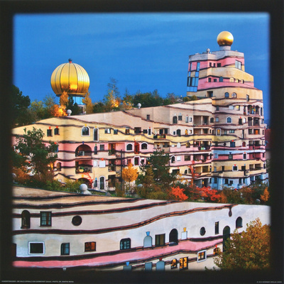 The Wald-Spirale at Darmstadt, Germany Prints by Friedensreich Hundertwasser