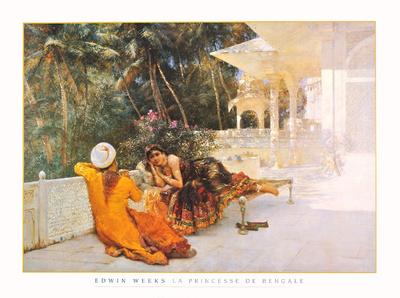 La Princesse de Bengale Poster by Edwin Lord Weeks