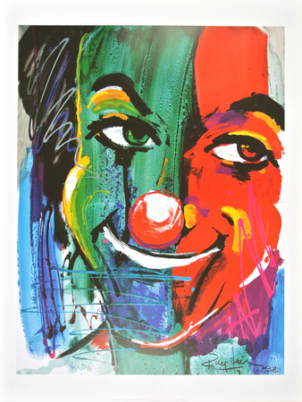 Face of the Clown , 1989 Poster by Rolf Knie