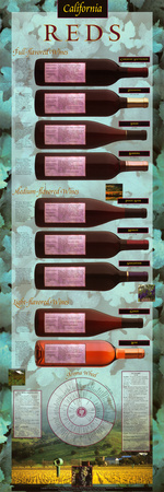 California Reds Educational Wine Poster Photo by Naomi Weissman