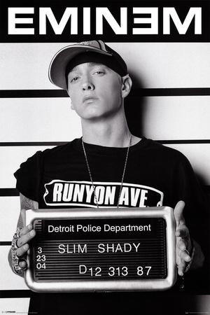 Eminem, arresteringsbild Affischer