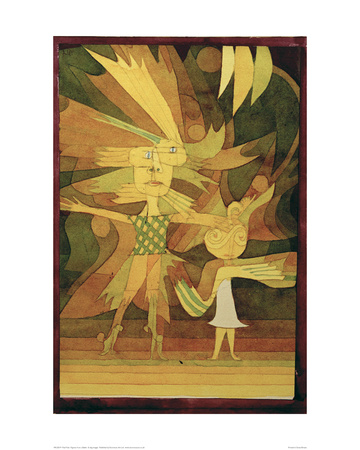 Figures from a Ballet Giclee Print by Paul Klee