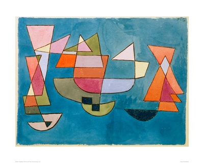Sailing Boats Giclee Print by Paul Klee