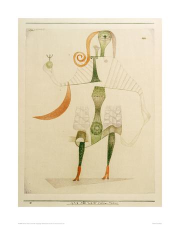 Female Costume Mask Giclee Print by Paul Klee