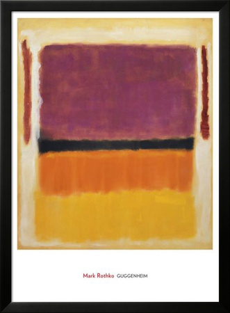 Untitled (Violet, Black, Orange, Yellow on White and Red), 1949 Poster di Mark Rothko