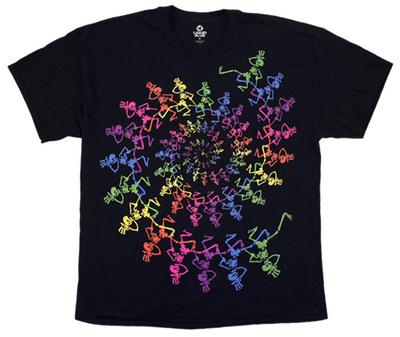 Grateful Dead - Spiral Skeletons Shirts