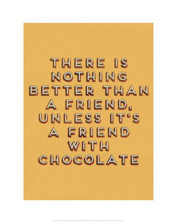 Friend with Chocolate Prints