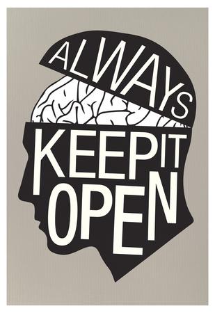 Always Keep It Open Poster plakat