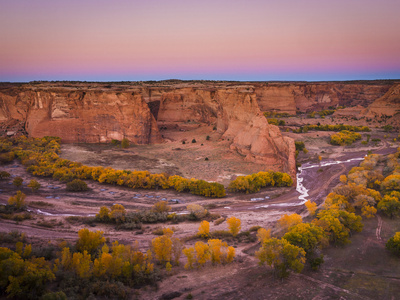 Fall Colors in Canyon De Chelly National Monument Photographic Print by Mike Cavaroc