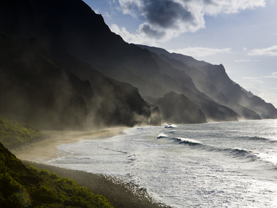 The Fluted Ridges of the Na Pali Coast on the North Shore of Kauai, Hawaii No.2 Photographic Print by Sergio Ballivian