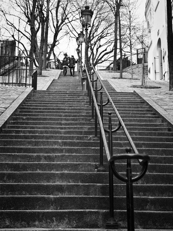 Banister view - Montmartre - Paris Photographic Print by Philippe Hugonnard