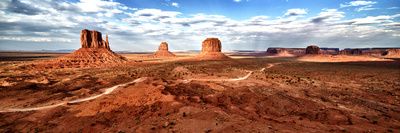 Panoramic Landscape - Monument Valley - Utah - United States Photographic Print by Philippe Hugonnard
