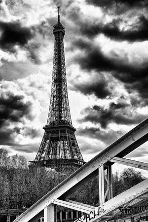 Eiffel Tower and Rouelle Bridge - Paris - France Photographic Print by Philippe Hugonnard