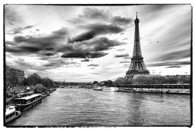 View of the Eiffel Tower - Paris - France Photographic Print by Philippe Hugonnard