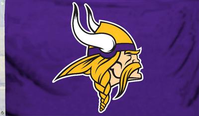 NFL Minnesota Vikings Logo Flag With Grommetts Bandera