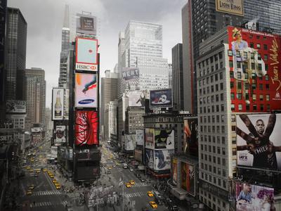 Times Square Rising Sanatsal Reprodüksiyon