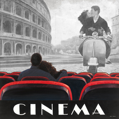 Cinema Roma Poster by Marco Fabiano
