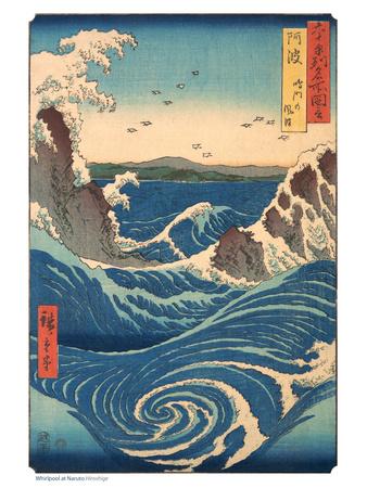 Whirlpool at Naruto, Awa Province Posters by Ando Hiroshige