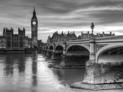 The House of Parliament and Westminster Bridge Affischer av Grant Rooney