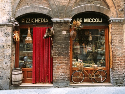 Pizzicheria and Bicycle Poster by John Elk III