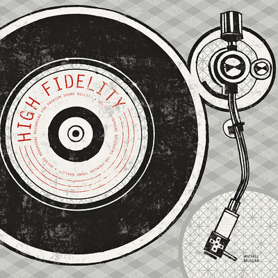 Vintage Analog Record Player Posters by Michael Mullan