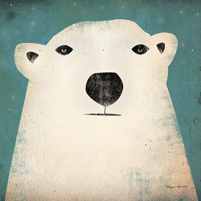 Polar Bear Poster by Ryan Fowler