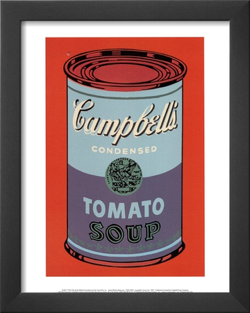 Campbell's Soup Can, 1965 (Blue and Purple) Posters by Andy Warhol