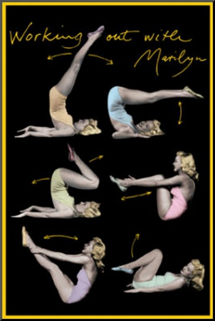 Marilyn Monroe (Working Out) Movie Poster Print Mounted Print